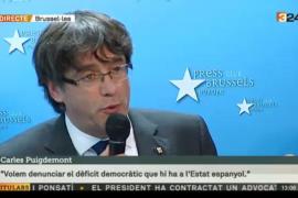 Puigdemont no quiere escapar de la acción de la Justicia pero él se queda en Bruselas
