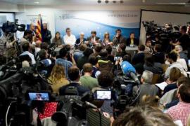 Carles Puigdemont defiende en Bruselas que el suyo es el gobierno legítimo de Cataluña