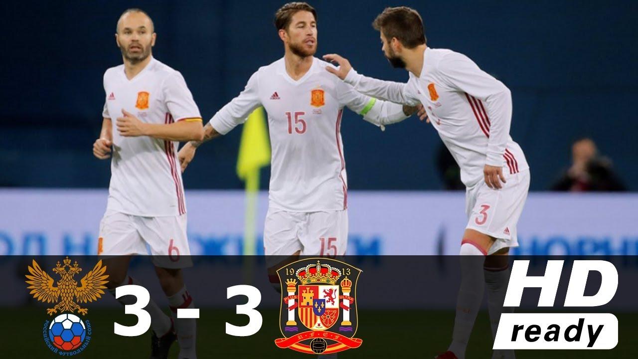 España empaña su imagen ante una discreta Rusia (3-3)