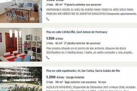 Aumentan los pisos en alquiler para todo el año en Ibiza pero los precios siguen siendo prohibitivos