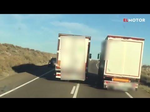 Los adelantamientos entre camiones más temerarios vistos este año en la carretera