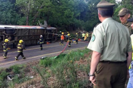 Al menos once muertos y más de 20 heridos en un accidente de autobús en el municipio chileno de Tirúa