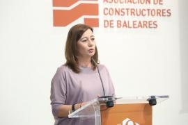 Armengol destaca el papel de los constructores en el dinamismo de la economía balear