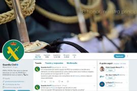 El 'recado' de la Guardia Civil a los Mossos en su cuenta de Twitter