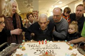 105 años entre familiares y amigos