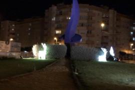 Rafa Ruiz denuncia el robo de un reno navideño en la rotonda de Can Misses