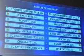 Sorteo bomba de Champions: Real Madrid-PSG; Chelsea-Barcelona; Sevilla-Manchester United