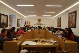 Pleno infantil en el Ayuntamiento de Santa Eulària