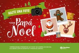 Papá Noel llega a Mallorca Fashion Outlet para recoger las cartas de los más pequeños