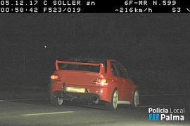 Sale a la venta el coche del conductor 'cazado' por el radar a 216 km/h en Palma