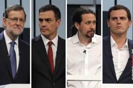 Rajoy, Sánchez e Iglesias seguirán el recuento en sus sedes en Madrid y Rivera estará en Barcelona