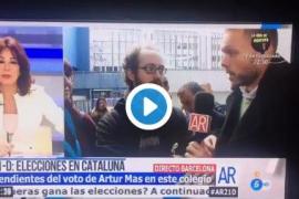 Ana Rosa interrumpe a un votante por unas palabras sobre la actuación de la Policía el 1-O