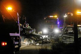 Un conductor muerto y otro herido grave en un choque frontal en San Llorenç