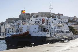Abre el puerto de la Savina tras una hora y media cerrado por la borrasca 'Bruno'