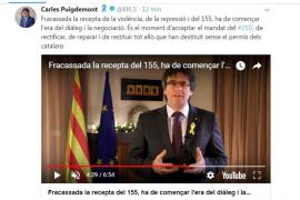 El mensaje de Carles Puigdemont desde Bruselas y a través de las redes sociales