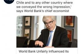 El Banco Mundial admite que perjudicó a Chile alterando el índice de competitividad