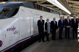 Fiasco en la inauguración de la lína del AVE entre Valencia y Castellón con Mariano Rajoy a bordo