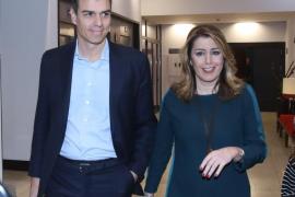 """Pedro Sánchez da por superadas las """"discrepancias"""" con Susana Díaz: """"todos remamos en la misma dirección"""""""