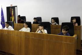 Pleno infantil en el Ayuntamiento de Vila (Fotos: Daniel Espinosa).