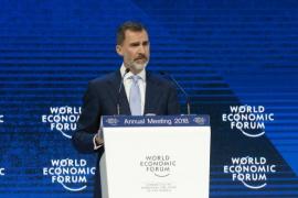 """El Rey, sobre Cataluña en Davos: """"La Constitución no es un mero ornamento, sino el pilar de la coexistencia"""""""