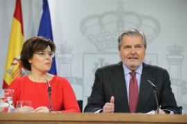 """El Gobierno dice que cumple con su """"obligación"""" de recurrir al TC para evitar """"otra afrenta"""" de Puigdemont"""