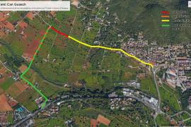 Santa Eulària cierra el camino de Can Guasch por las obras de interconexión de un depósito de agua