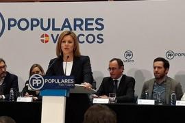 """Cospedal cree que Puigdemont hace política para """"crear división"""" y ha acabado """"dividiendo a los suyos"""""""