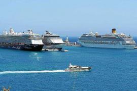 El número de pasajeros de cruceros creció un 35% en el puerto de Ibiza durante 2017