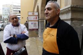 Los comerciantes de l'Olivar advierten del peligro del indigente: «Pasará una desgracia»