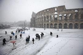 La nieve vuelve a Roma depués de más de 20 años