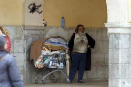 El indigente de l'Olivar agredió con una cachimba metálica a un hombre