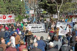 Unas 250 personas se manifiestan en el Parc de la Pau para luchar contra la precariedad