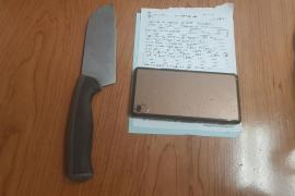 Interceptado en los juzgados de Ibiza con un cuchillo de grandes dimensiones