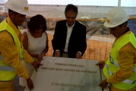 Primera piedra para el futuro nuevo colegio de Sant Antoni