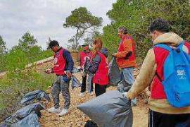 Voluntarios recogen 400 kilos de basura de sa Talaia de Sant Antoni