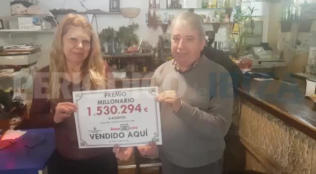 Un boleto de la Bonoloto sellado en Puig d'en Valls, premiado con 1.530.294 euros
