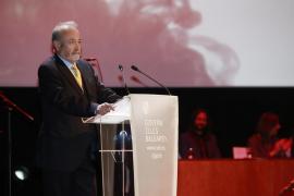 Castro durante su discurso en la entrega de los Premis Ramon Llull.