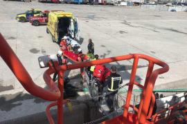 Herida leve una joven de 30 años que se despeñó desde más de 30 metros en Cap Martinet