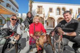 Orgullo canino en Santa Eulària para acoger a un perro abandonado