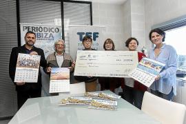 El Grupo Prensa Pitiusa recauda 3.000 euros para ADDIF gracias a su calendario solidario