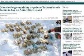 Macabro hallazgo en Siberia: 26 pares de manos humanas en una bolsa