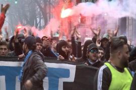 Detenidos tres ultras franceses tras la agresión a dos vigilantes en San Mamés