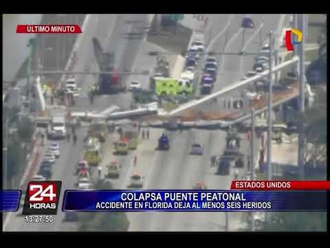 Varios muertos tras derrumbarse un puente en Florida