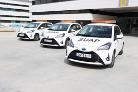 Los equipos de Urgencias de Primaria de Ibiza estrenan tres coches híbridos