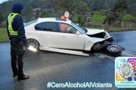 Denunciada una conductora que dio positivo en alcohol tras sufrir un accidente en Sant Josep