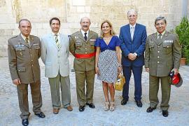 Acto militar en el Palacio de la Almudaina para despedir a Mariano Estaún