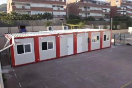 Las aulas modulares del colegio de Can Misses empezarán a funcionar el martes
