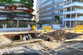 Las obras de la zona portuaria de Ibiza