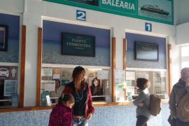 Formentera, otra vez incomunicada por el cierre de la Savina