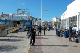 Cancelaciones marítimas por el cierre del puerto de la Savina durante ocho horas